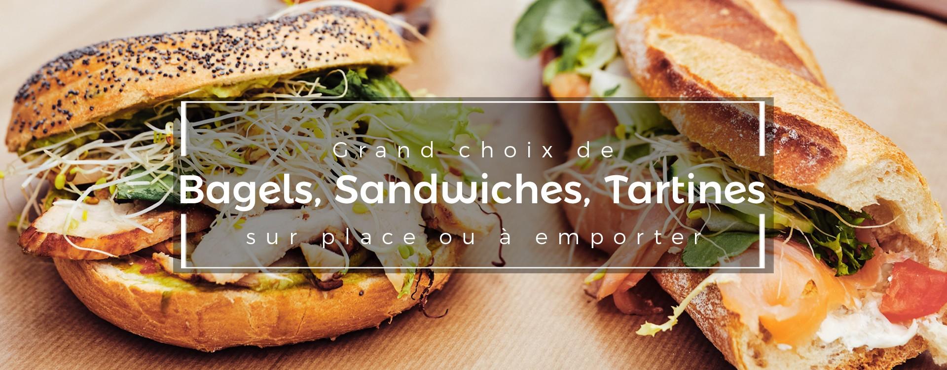 Bagels, sandwiches et tartines à manger sur place ou à emporter au Coin du Châtelain à Ixelles