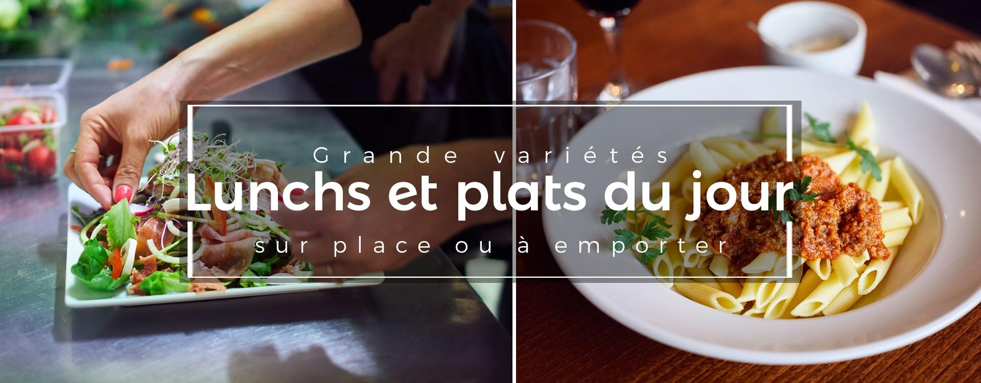Lunchs et plats du jour à la place du Chatelain à Bruxelles